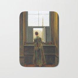 Caspar David Friedrich Woman at a Window Bath Mat