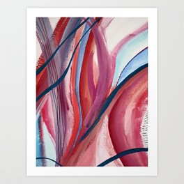 Carnival Candy: a vibrant, colorful abstract piece in pinks and blues by Alyssa Hamilton Art Art Print