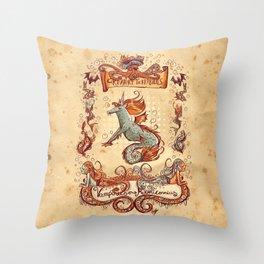 Creaturi Terribilus Throw Pillow