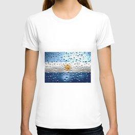Flag of Argentina - Raindrops T-shirt