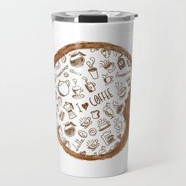 Inside an imprint of Coffee - I love Coffee Travel Mug