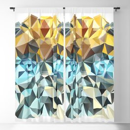 Bumblebee Low Poly Portrait Blackout Curtain