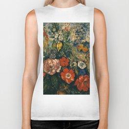 """Paul Cezanne """"Bouquet of Flowers"""" Biker Tank"""