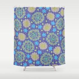 Kantha floral 4 Shower Curtain