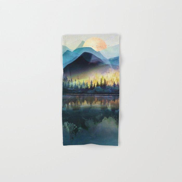 Mountain Lake Under Sunrise Hand & Bath Towel