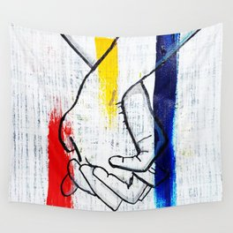 Primary Love Wall Tapestry