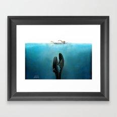 Crescent Jaws Framed Art Print