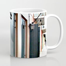 Turquoise Doors, French Quarter, New Orleans Coffee Mug