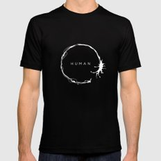 HUMAN II Mens Fitted Tee MEDIUM Black