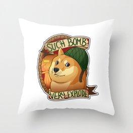"Cs:go : sticker ""Bomb doge"" Throw Pillow"