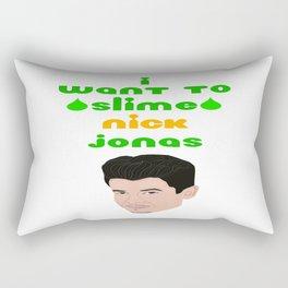 I Want to Slime Nick Jonas Rectangular Pillow