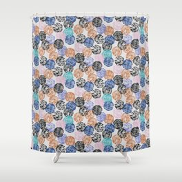 Thumbprint Dots Shower Curtain