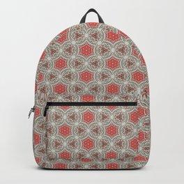 Coral Geometric Pattern # 3 Backpack