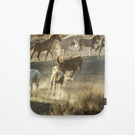 Hijinks at the Waterhole Tote Bag