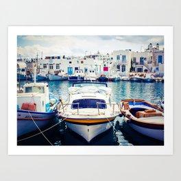 Fishing Boats in Greece Art Print