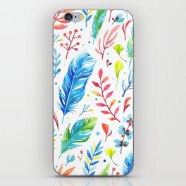 Boho Feathers iPhone Skin