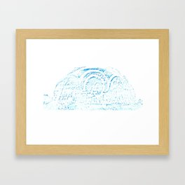 Blue Headstone Framed Art Print
