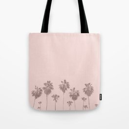 Trees Palm in Pink Tote Bag