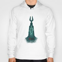 bioshock infinite Hoodies featuring Bioshock - Andrew Ryan and The Lighthouse by Art of Peach