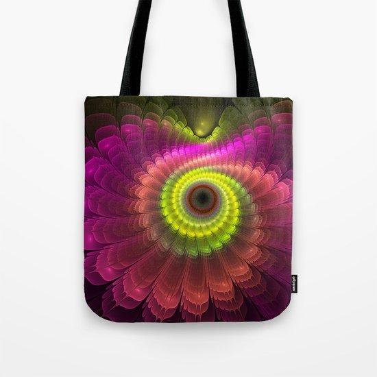 Curling up fantasy flower Tote Bag