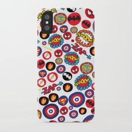 Superhero Stickers iPhone Case
