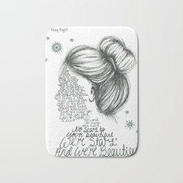 Scars to Your Beautiful (Alessia Cara) Bath Mat