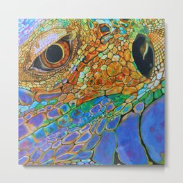 A Lizards Stare Metal Print