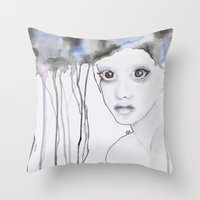 depression Throw Pillows featuring Depression I by katimarco
