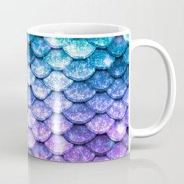 Mermaid Ombre Sparkle Teal Blue Purple Coffee Mug