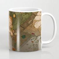 bouletcorp Mugs featuring La rivière aux tortues by Bouletcorp