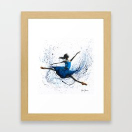 Blue Season Ballerina Framed Art Print