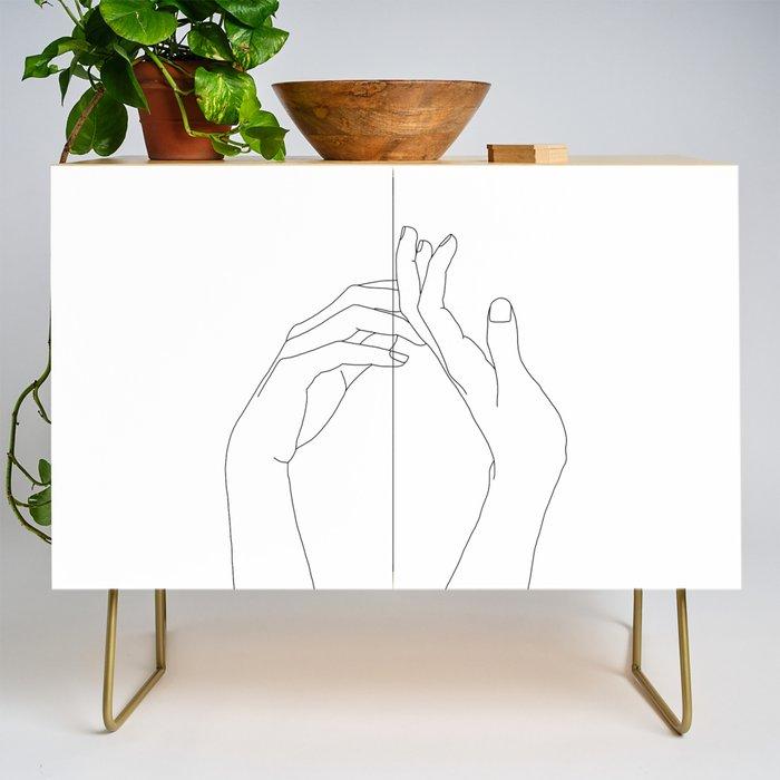 Hands line drawing illustration - Abi Credenza