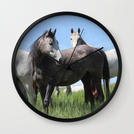 Thoroughbred Arab Cross Photography Print Wall Clock