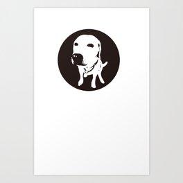 guilty labrador Art Print