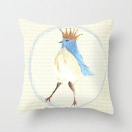 Queen of the Bluebirds Throw Pillow