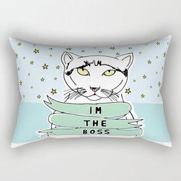 My Cat is the Boss Rectangular Pillow