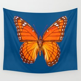 TEAL ORANGE MONARCH BUTTERFLY Wall Tapestry