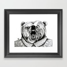He was like a bear! Framed Art Print