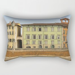 Pisa in color Tuscany Italy Rectangular Pillow