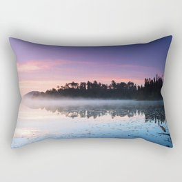 Colorful Summer Sunrise Lake in the Boundary Waters Rectangular Pillow