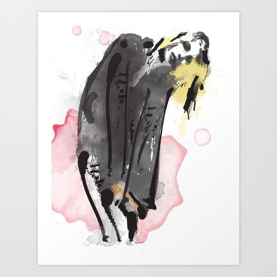 Bent Art Print