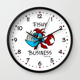Fishy Business Wall Clock