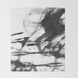 Black and white Abstract Throw Blanket