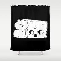 rat Shower Curtains featuring ▴ rat ▴ by PIXIE ❤︎ PUNK