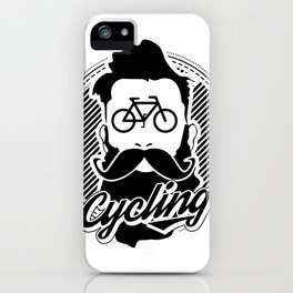 cycling hipster iPhone Case