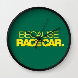 BECAUSE RACE CAR v5 HQvector Wall Clock