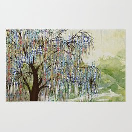 Willow Tree Abstract digital art  composition Rug