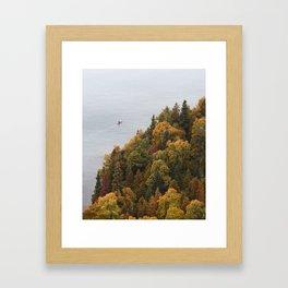 Kayaking Through Fall | Copper Harbor, Michigan | John Hill Photography Framed Art Print