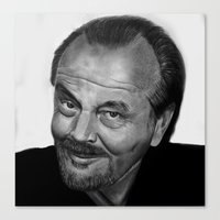 jack nicholson Canvas Prints featuring Jack Nicholson by Alessandro Modesti