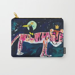 Toucan and Tiger in the Night Sky Painting Carry-All Pouch